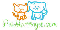 PetMarriages.com logo showing a cat and a dog.